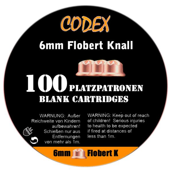 46404 CODEX Platzpatronen 6mm Flobert Knall